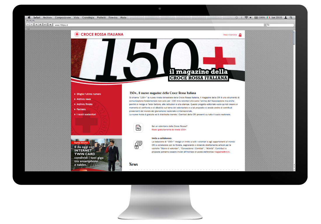 150 più | Il magazine della Crocerossa Italiana